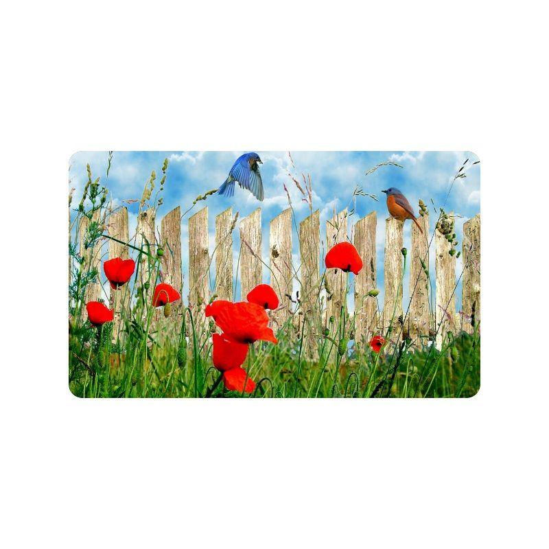 Beautiful red poppy flower art custom doormat entrance mat floor mat beautiful red poppy flower art custom doormat entrance mat floor mat rug indooroutdoorfront doorbathroom mats rubber non slip size check carpets frieze mightylinksfo