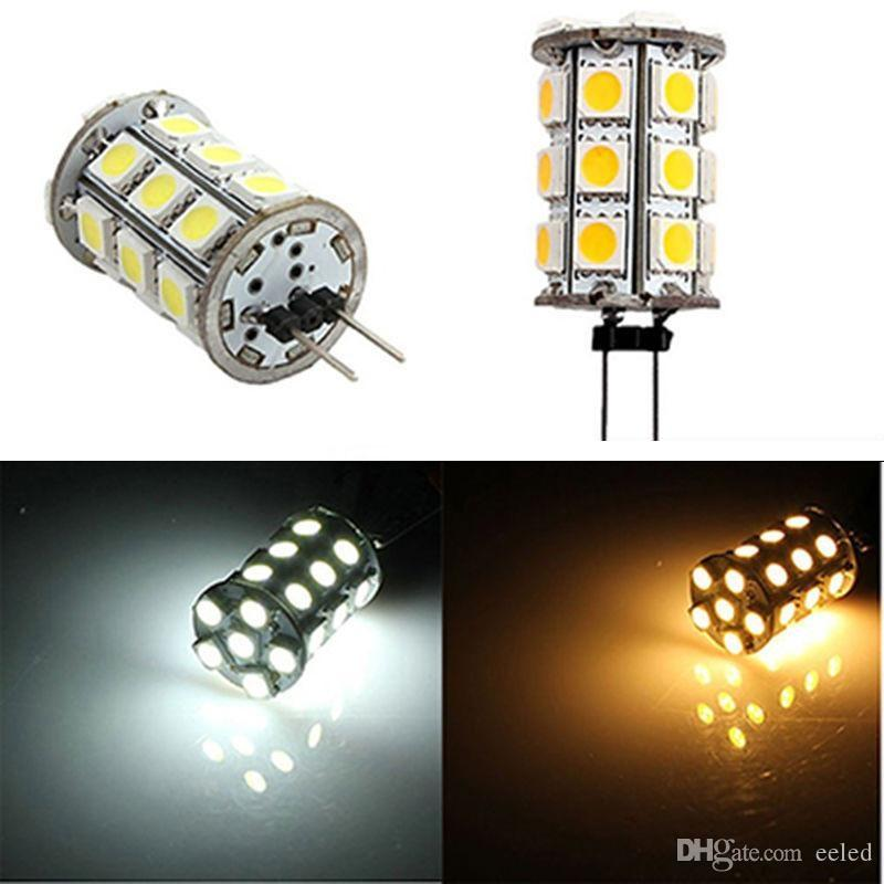453ed70db91 Warm White/White LED G4 Mini 5050 SMD 27 LED Crystal Lamp Marine Boat RV  Cabinet Spot Yacht Light Lamp Light Car Reading Lamp Bulb 12V Led Can Light  Bulbs ...