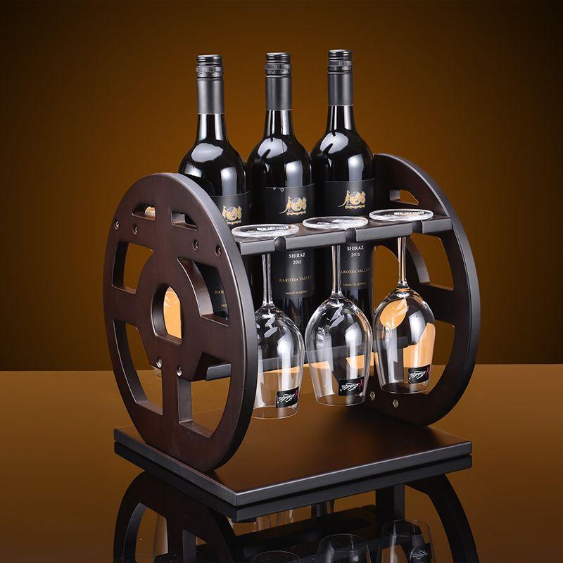 see larger image - Wooden Wine Rack