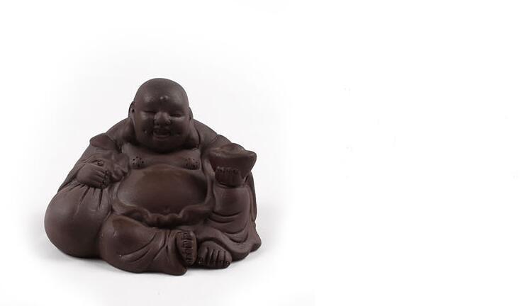 Toptan mor kil büyük göbek Maitreya Buda Çin oolong çay evcil kongfu çay aksesuarları fabrika outlet T68