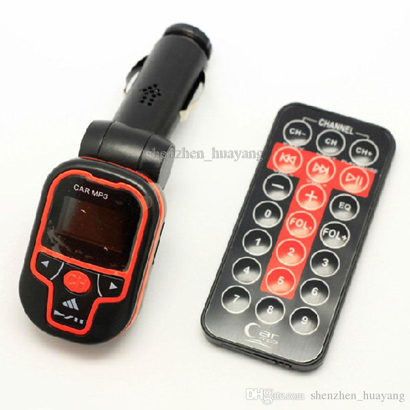 カラフルな車のMP3プレーヤーのワイヤレスFMトランスミッタ、USBジャックTF /マイクロSDスロット、10ピース/ロット無料HK PO