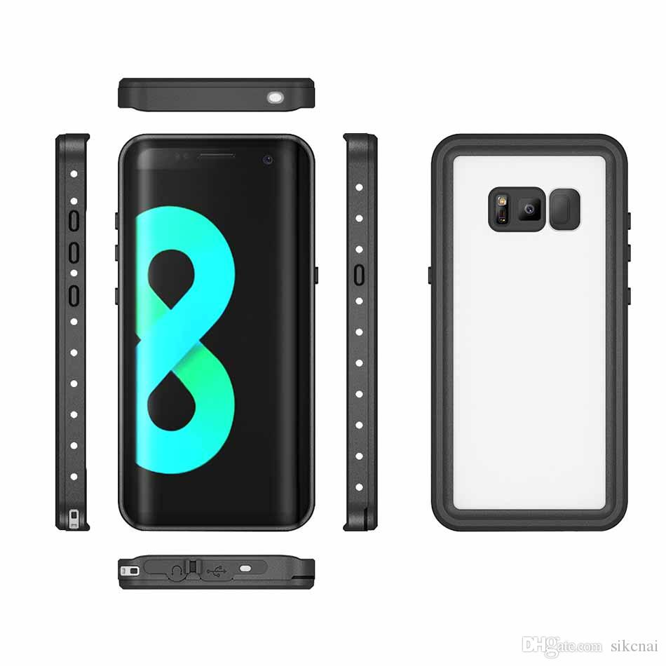 For Samsung S8 Plus Waterproof Shockproof IP68 Dust proof Mobile Phone Case for Samsung Galaxy S8 S8 Plus S7 edge iPhone Diving Case