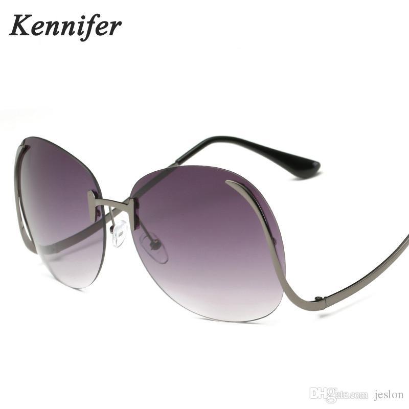 Großhandel Kennifer 2017 Vintage Randlose Sonnenbrille Frauen Luxus ...