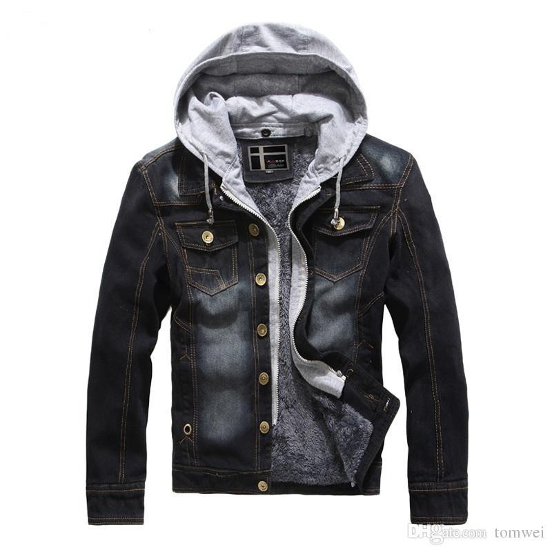 Mens Autumn Coats Denim Jackets Jeans Jackets Hoodies Spring Slim