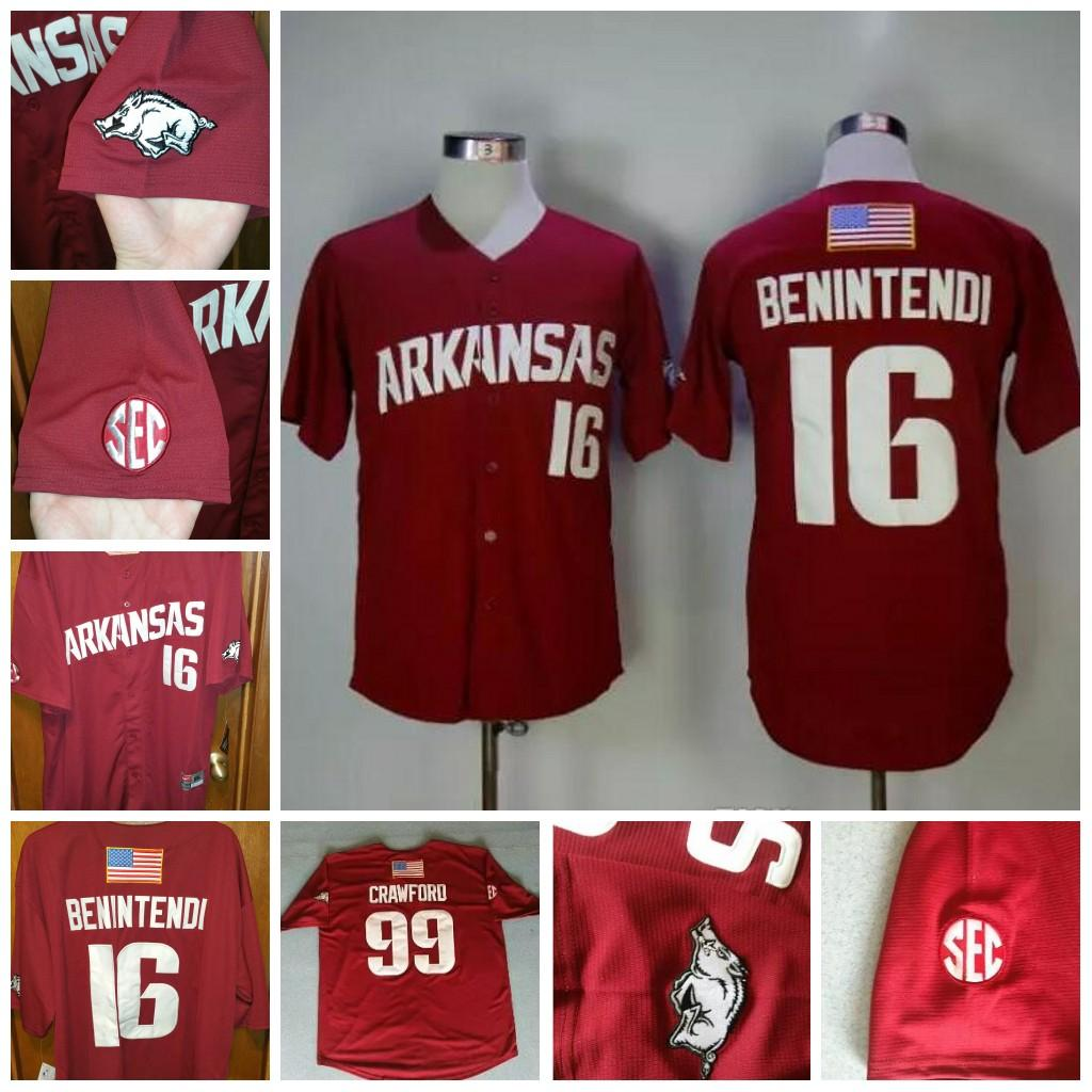 Mens Womens Youth Baseball Arkansas Razorbacks College Baseall Jerseys  16  Andrew Benintendi Jerseys Maroon Red Canada 2019 From Huohuo2014 932a84af0ca