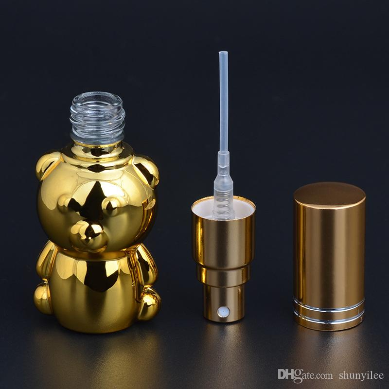 new arrival 8ML bear shape Portable Perfume Spray Bottle Perfume Bottles empty perfume bottles F2017174
