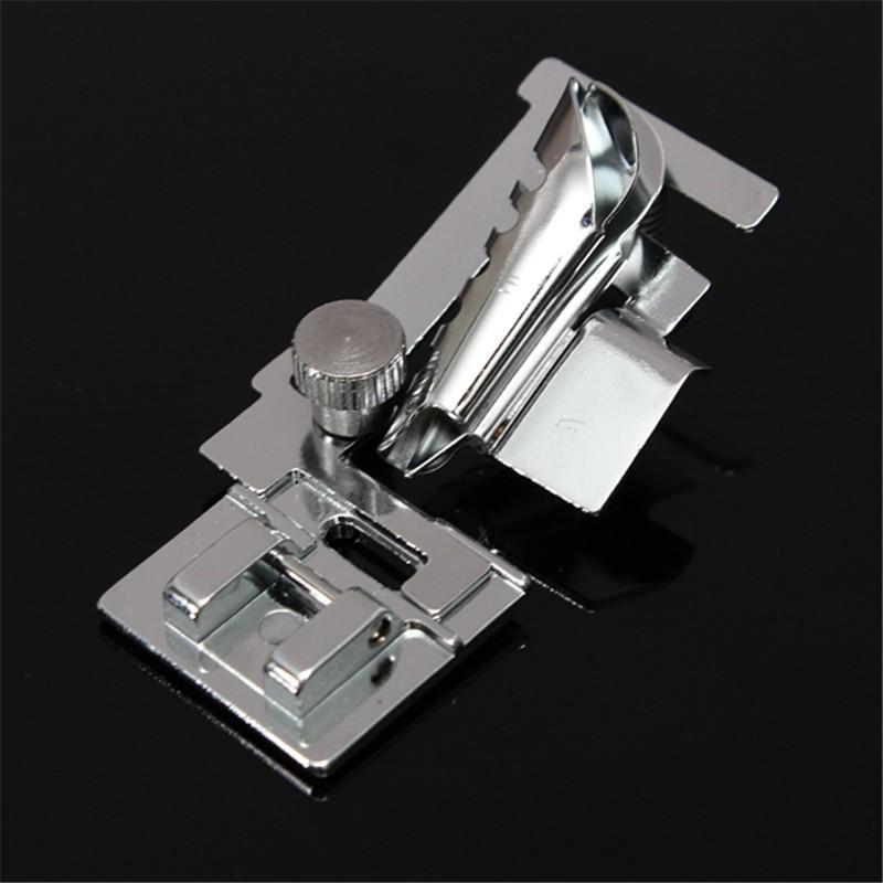 Bias Tape Binder Binder Pied Pied Presseur Pieds Pour Machine À Coudre Domestique Ton Argent Pour Snap Sur Domestique Machine À Coudre Chanteur