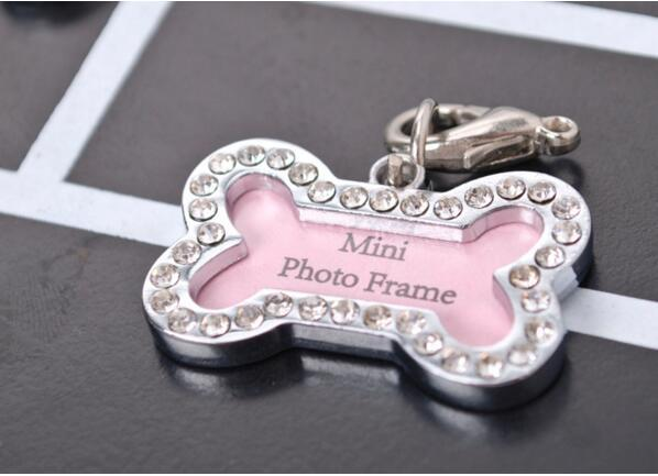 Pet Tag Set Dog Bones Shaped Name Card Bone Lost Dog Id Address Name Label Tag Pet Dog Pendant