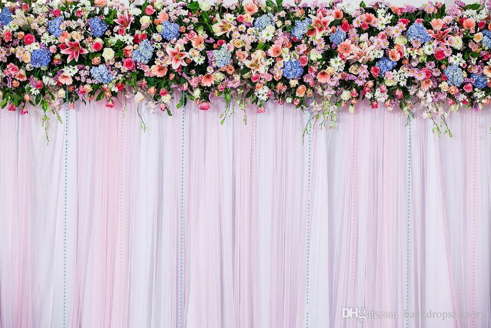 2018 digital printing vinyl wedding curtain backdrop for photography 2018 digital printing vinyl wedding curtain backdrop for photography printed pink blue flowers kids children photo studio backgrounds from backdropsfactory mightylinksfo