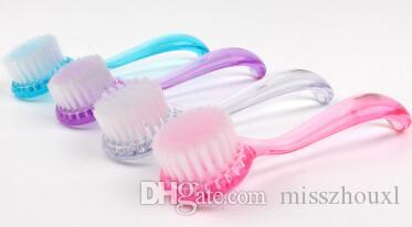 Peeling Gesichtsbürste Gesicht Soft Gesichtsbürste Tiefenreinigung Bürste Nylon Make-up Gesicht Waschen Rosa Lila Weiß