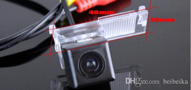 Para la cámara de respaldo Peugeot 301 / Estacionamiento del auto Cámara trasera / Luz de la placa OEM / CCD RCA NTST PAL