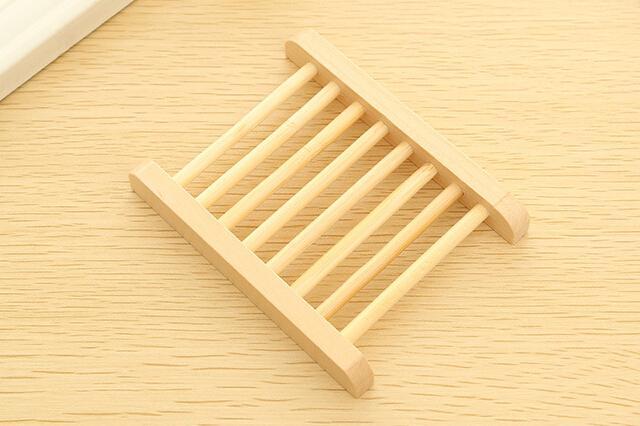 Accessoires de salle de bains Boîte à savon en bois antidérapante multifonctionnelle