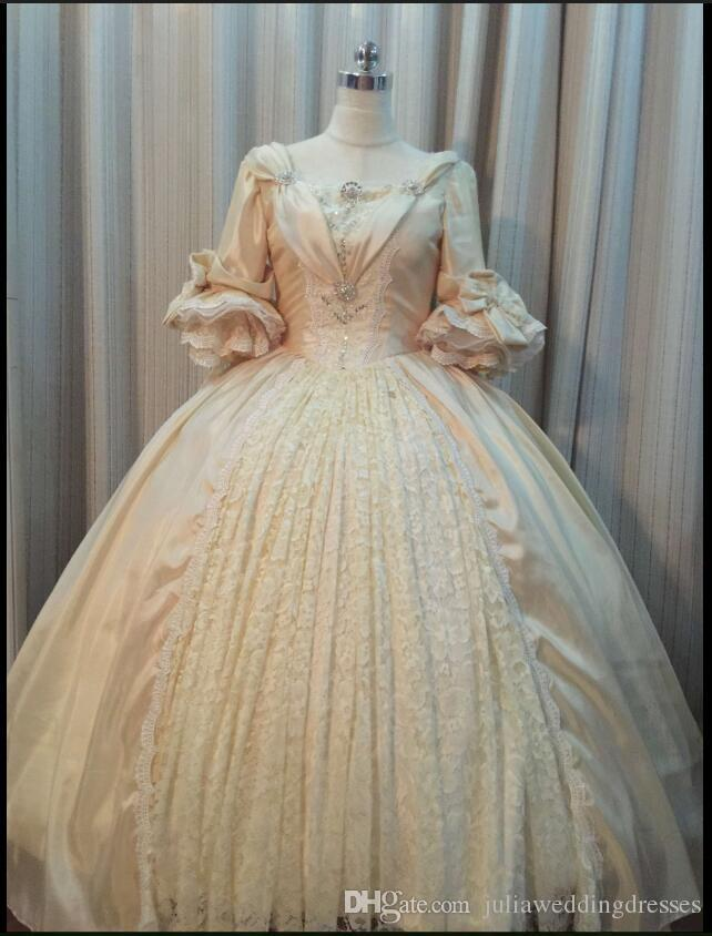 2017 Taffeta с длинными рукавами шаровые платья кулаковых платьев Quinceanera с блестением бисером плюс размер сладкий 16 платье Vestido dubutaNe qc119