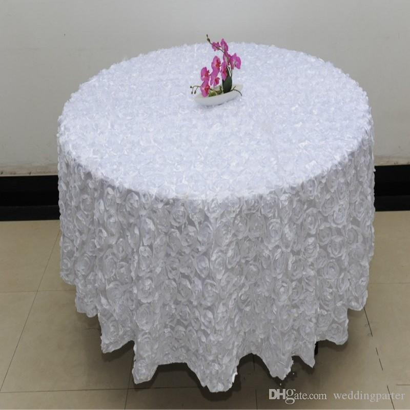 Wholesale 120 Inches White Color Wedding Table Cloth Round Overlays 3d Rose  Petal Round Tablecloths Wedding Decoration Supplier Round Lace Tablecloth  ...