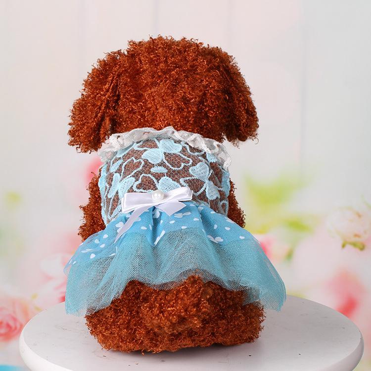 Sommer Breathable Hund Kleid Puppy Kleidung Hochzeit Prinzessin Rock Rosa Luxus Welpen Katze Kleider für kleine Hund Teddy Frühling TT259