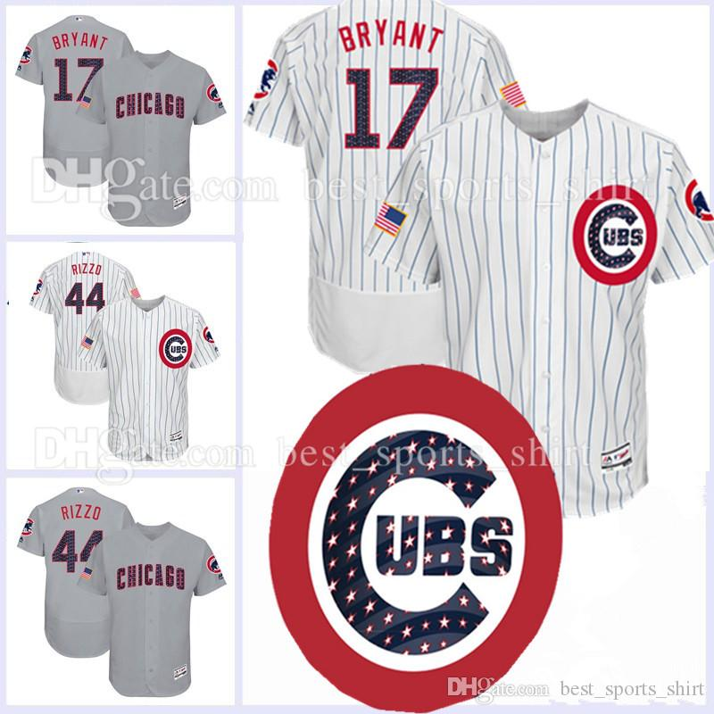 6a7aac8c ... greece mlb chicago cubs 17 kris bryant baseball 44 anthony rizzo jerseys  majestic 2017 stars stripes