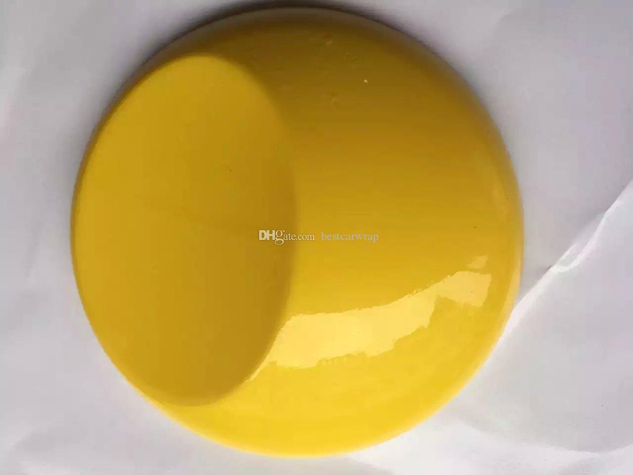 Ультра Глянцеватый Лоснистый желтый обруч винила 3 слоя высокого фильма обруча автомобиля Тиффани лоска с воздухом свободным как 3M 1080 размер: 1.52*20M / Roll