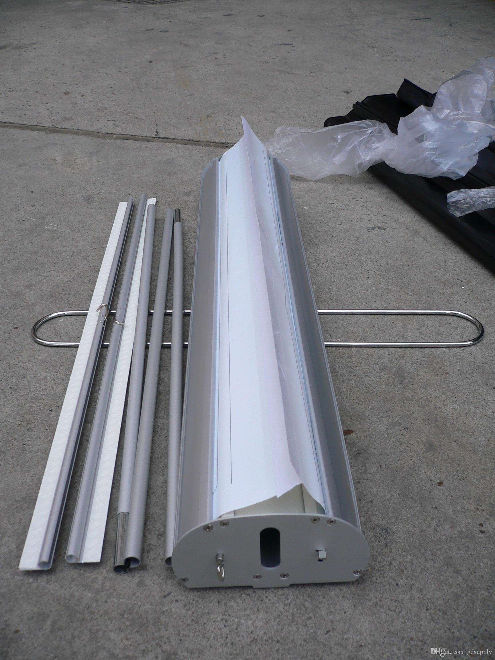 Double Sides Aluminum Roll up Dispaly Equipment for Promotion,Trade Show Retractable Banner Stand BST1-7 with banner