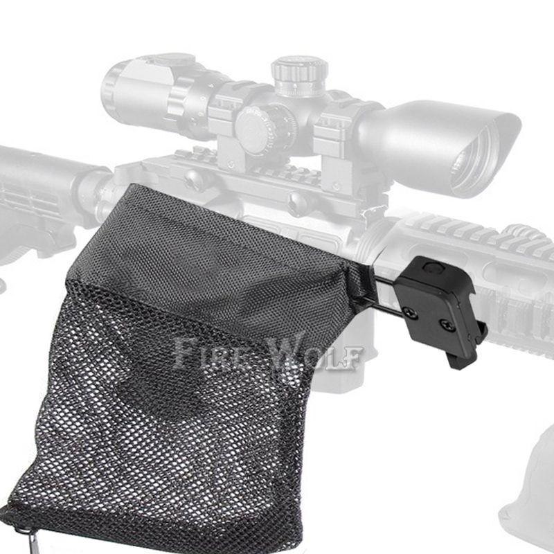 ARTE do LOBO AR-15 de Ammo de Bronze Shell Catcher Armadilha de Malha Fecho Com Zíper para 20mm Trilho De Malha De Nylon Preto