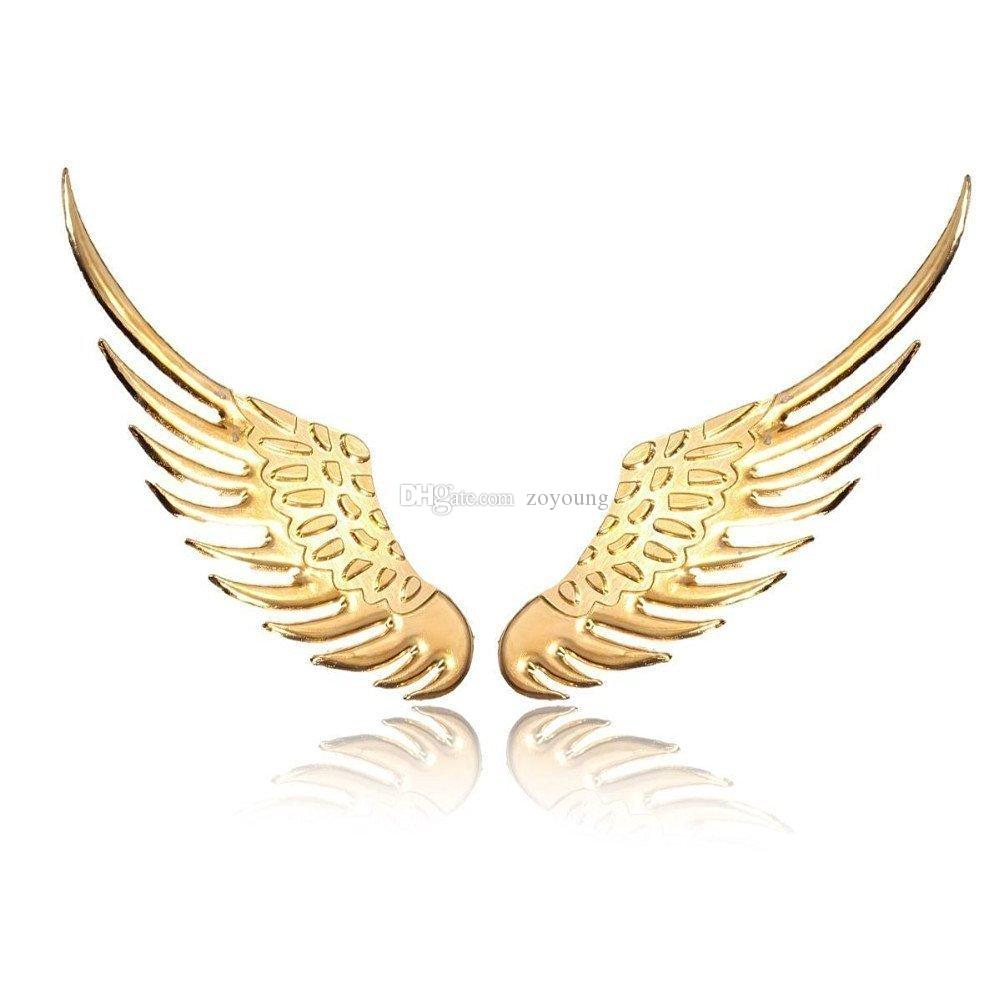 2018 3d Angel Wings Emblem Badge Car Stickers High Quality Alloy ...