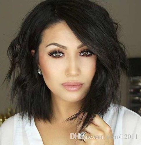 Brazilian Virgin Human Hair Full Lace Wigs Glueless Short Bob Human Hair Wigs Wavy With Baby Hair For Black Women 10inch Short