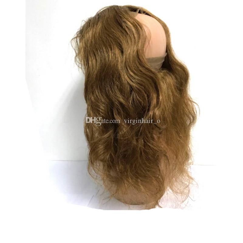 Color #4 Medium Brown Body Wave Virgin Hair Bundles With 360 Lace Frontal Closure Chocolate Brown Brazilian Human Hair Weaves With Frontals
