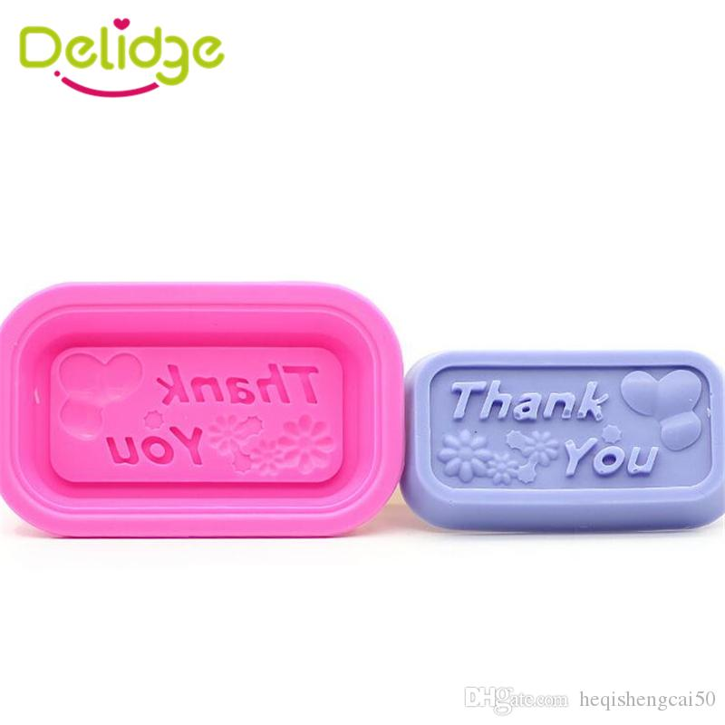 2018 Delidge Thank You Letter Soap Mold Silicone Making
