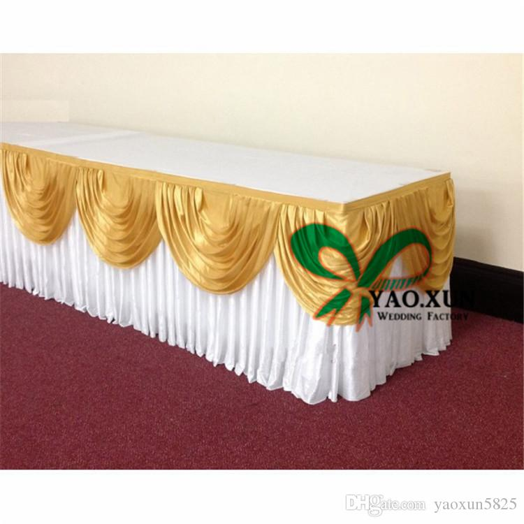 100 Ice Silk Table Skirt Fit For Many Kinds Of Table Cloth