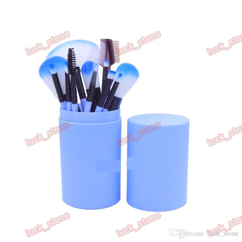 makeup brushes cup holder safty way dusty fee package 12 function brush for eyeshadow,lipstick,fondation welcome free OEM order