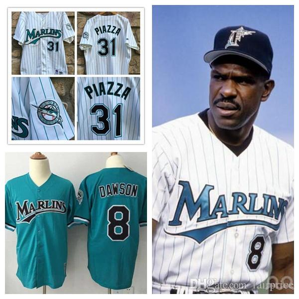 quality design 51993 5736d mens florida marlins 8 andre dawson mesh bp teal green ...