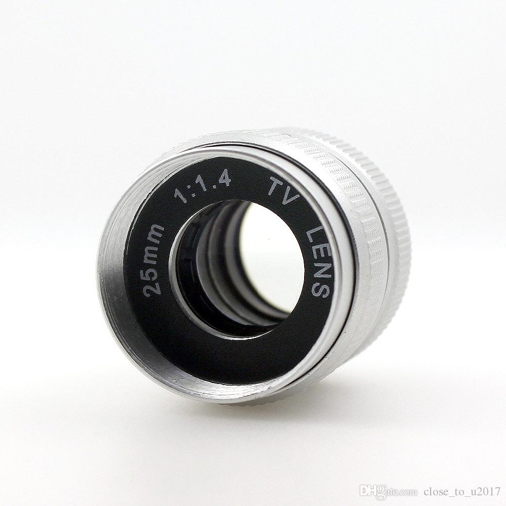 f/1.4 1/2 inch manual iris 25mm TV lens f1.4 C Mount cctv Lens for camera box