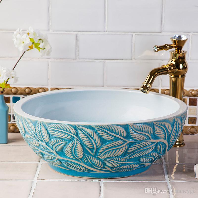 2018 Hotel European Style High End Luxury Modern Silvery Hand Wash Basin  Above Counter Art Basin Bathroom Round Porcelain Ceramic Vessel Sink From  Nancygc, ...