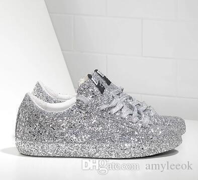Turnschuhe Amyleeok100 Glitter Schuh Von Niedrige Silberne Auf Frauen Nagelneu Über Großhandel Mode Ganz 51 Spitzen Goldene VGzqUSpLM
