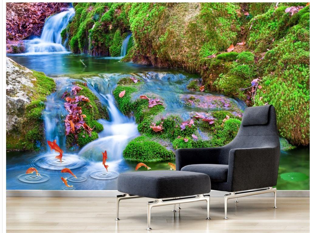 Luxury European Modern Beautiful Waterfalls Flowing Water
