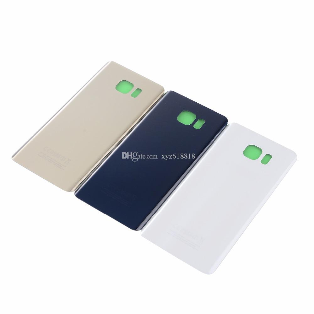 Original New With IMEI Numbers Battery Cover Glass Housing Back Door+glue stickers For Samsung Galaxy Note 5 N920 N920F Gold White Blue