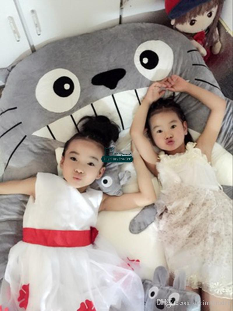 Dorimytrader High Quality 200cm X 150cm Anime Totoro Bed Cute Huge Totoro Bed Tatami Carpet Sofa Beanbag Nice Gift Decoration DY61279
