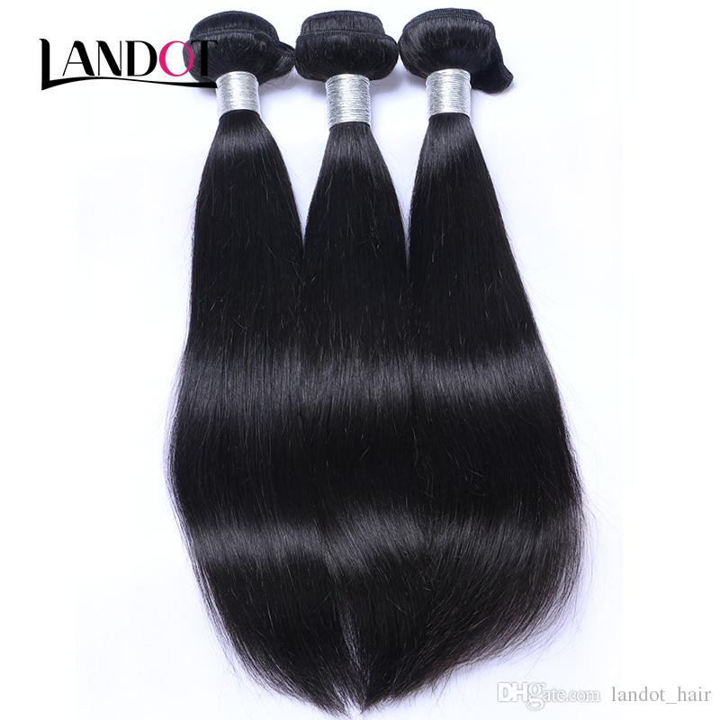 360 Full Lace Frontal Closure With 2 Bundles Brazilian Straight Virgin Hair Peruvian Indian Malaysian Cambodian Mongolian Human Hair Weaves