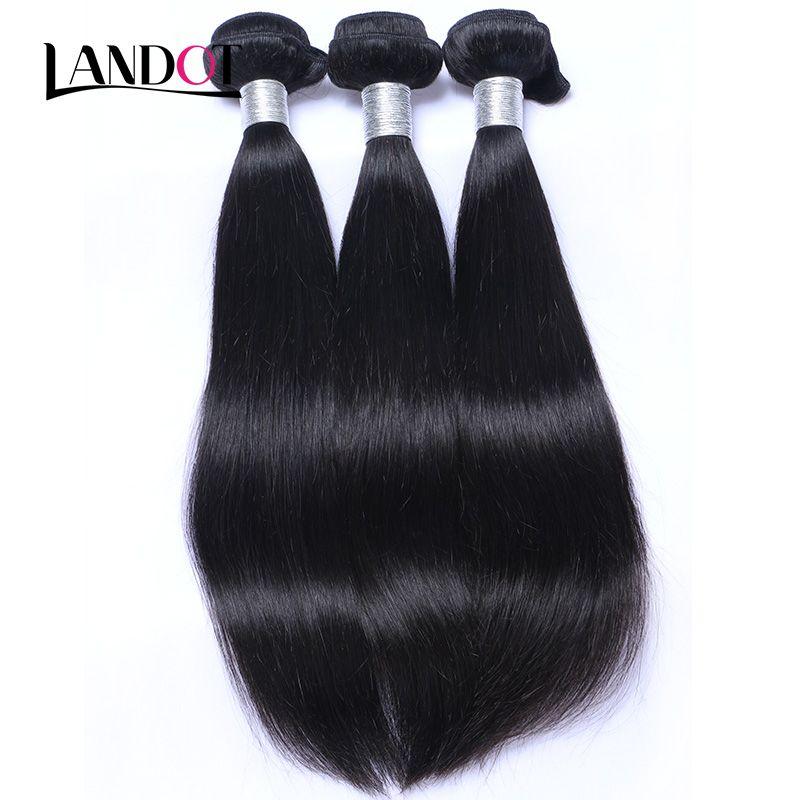 360 pleine dentelle fermeture frontale avec 2 faisceaux brésilienne droite cheveux vierges péruvienne indienne malaisienne cambodgienne mongole armures de cheveux humains
