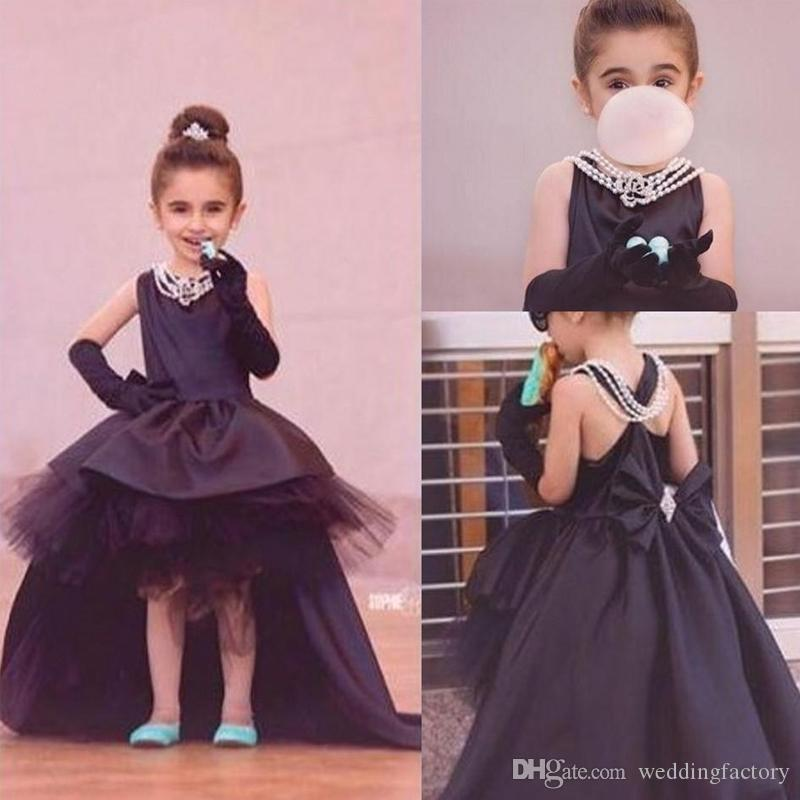 Black Toddler Pageant Dresses High Low Girl\'S Formal Party Gowns ...