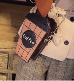 Europa y los Estados Unidos taza de café moda mujeres bolso damas bolsa cadena bordado bolso de hombro