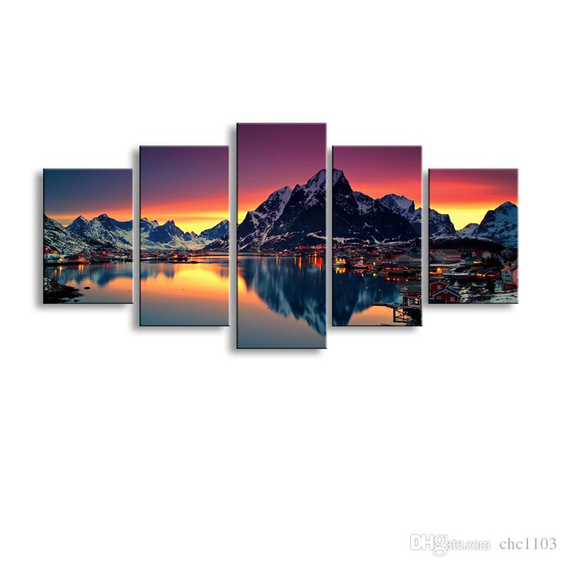 2019 High Definition Print Beautiful Snow Capped Mountain Canvas Oil  Painting Poster And Wall Art Living Room Picture PL5 203 From Chc1103 c9881f3d083