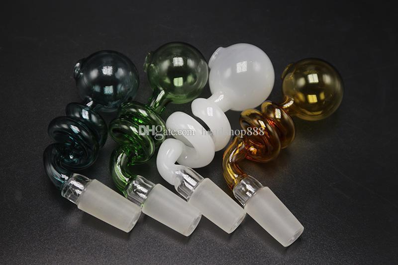 2017 bunte Glas Ölbrenner Pfeife Rauchen Hand Rohre Dicke 14mm 18mm Männlichen Glas Wasser Rohr Öl Tabak Rohr Für Bongs DHL