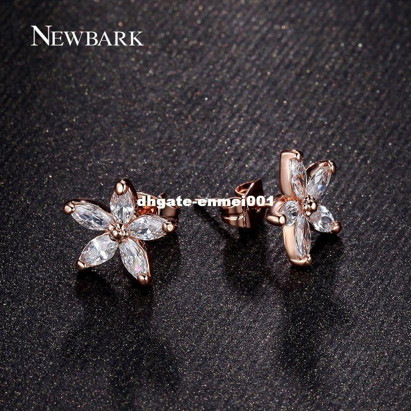 accent v p diamond earrings stud and silver sterling flower gold plate in solitaire
