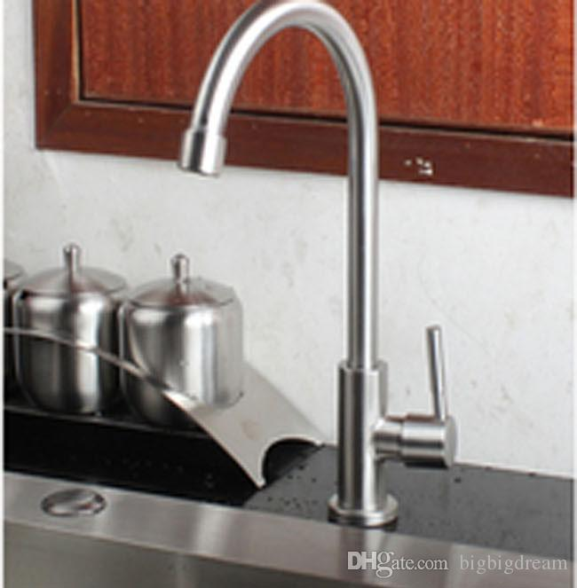 2017 Contemporary Kitchen Accessories Sink stainless steel SUS 304 Dish Basin Cold Faucet Water Tap Brushed Best