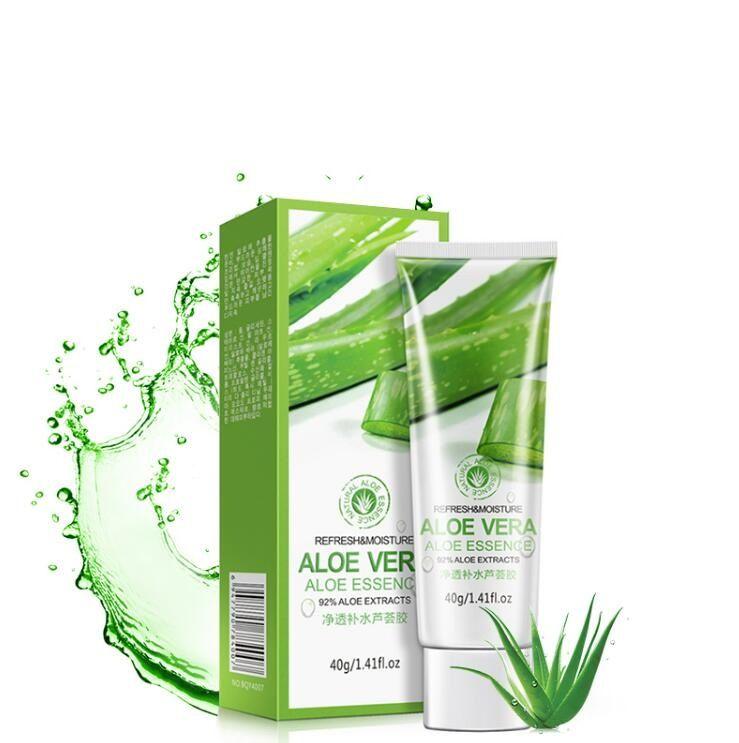Hot BIOAQUA Aloe Gel Lenitivo 40ml Gel di Aloe Vera Cura della pelle Rimuovi Acne Crema Idratante all'Aloe