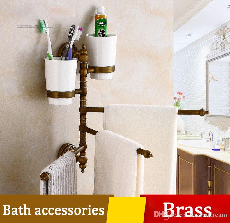 2018 Archaistic Bathroom Towel Bar And Tooth Brush Case Set ...