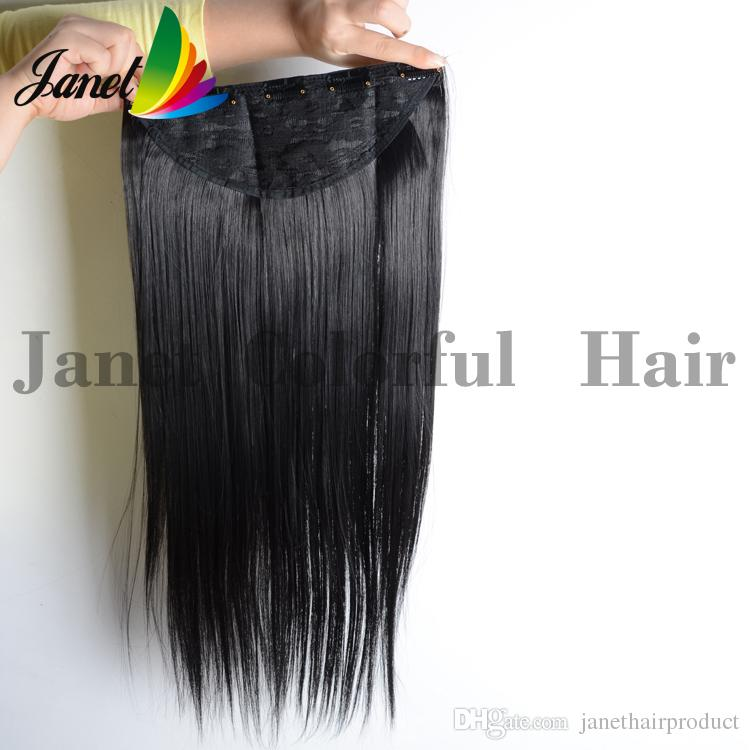 Silk straight synthetic hair clip in hair extensions piece length silk straight synthetic hair clip in hair extensions piece length 65cm 120g 25cm width 5 clips can flat iron and curl extension ponytail long ponytail pmusecretfo Choice Image