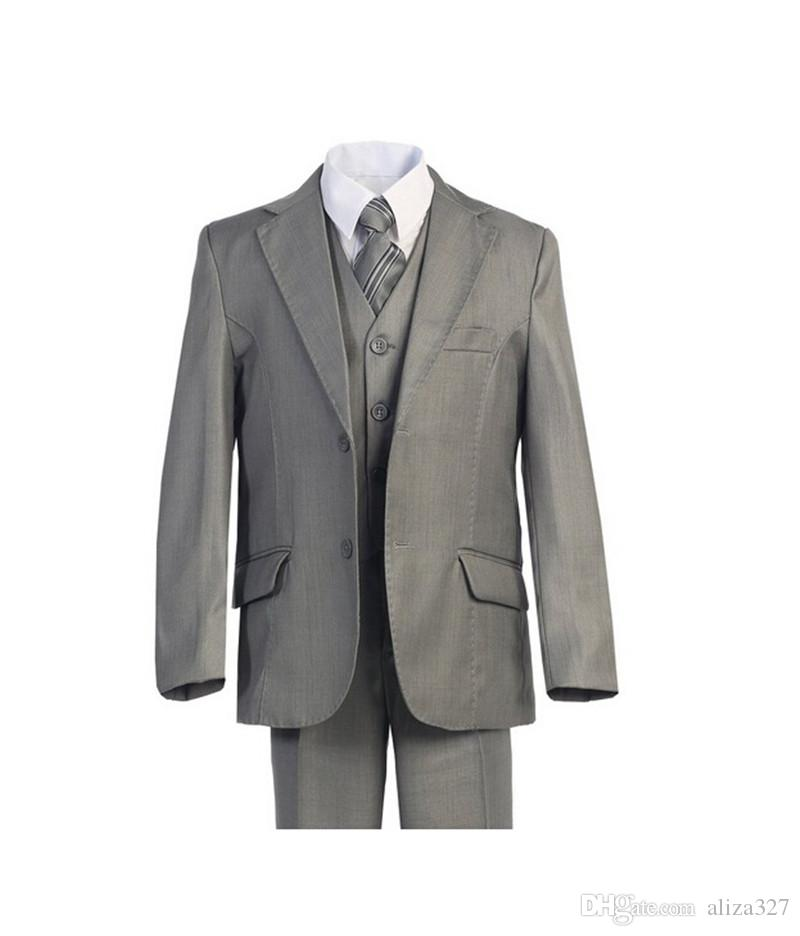 Hot sale boy suits fashion contracted two button boy tuxedos high qulity three-piece boys tuxedos formal occasionjacket+pants+vest