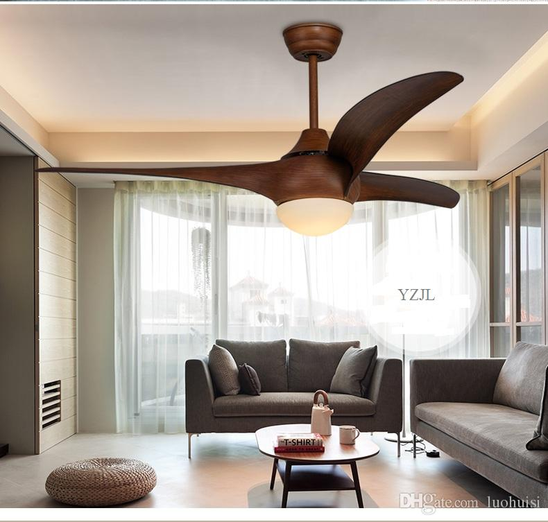 Dining Room living room bedroom Fan lamp ceiling fan 52inch vintage Western minimalist LED fan light ceiling with remote control