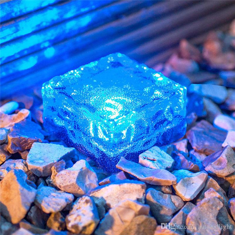 O diodo emissor de luz enterrou a luz do trajeto da plataforma IP68 enterrada, branco azul RGB O caminho solar do cubo de gelo do tijolo Recessed conduziu as luzes do assoalho impermeável ao ar livre